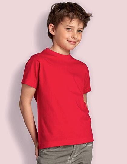 T-Shirt Rundhals - Kinder( Gr. 140 & 152) - 100% BW in navy & skyblue
